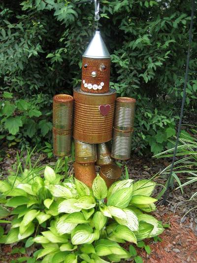 """""""Rusty,"""" in the garden"""