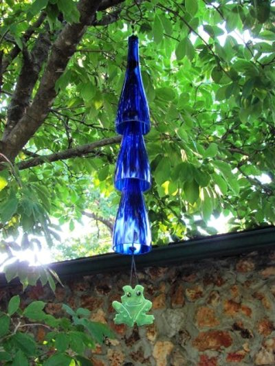 Sandra Parrill's wine bottle chime