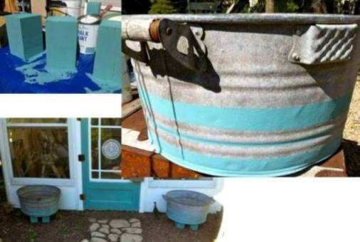 Tubs turn planters with added legs