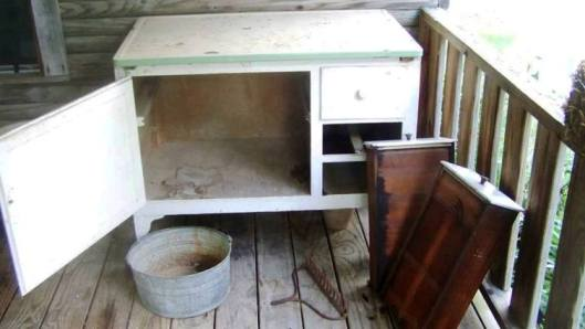 Sue Jordan started with this old cabinet