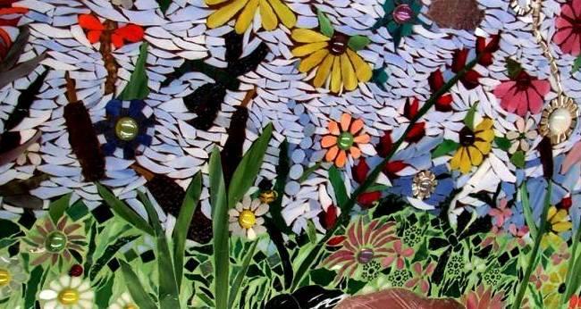 Becky's tiled garden windows
