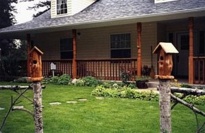 Kirk's birdhouse greeters