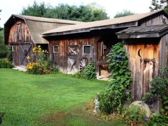 Cherries farm and weathered barn
