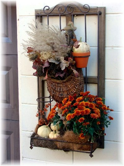 Create A Garden Background For Your Flea Market Finds