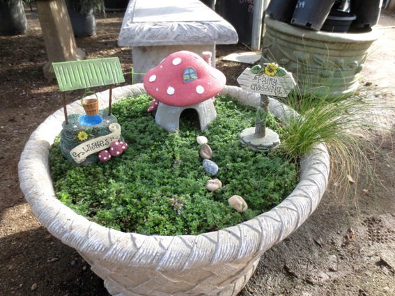 This Easy Fairy Garden Is From A Kit, With A Carpet Of Wooly Thyme