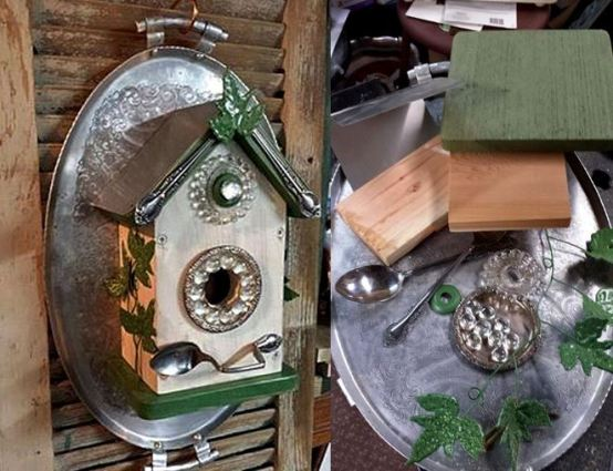 Blinged up birdhouse Pin it!
