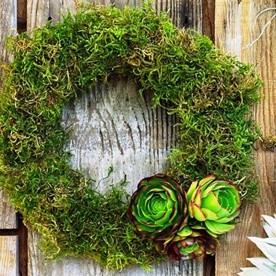 Lichen wreath by Flora Grubb via Sunset