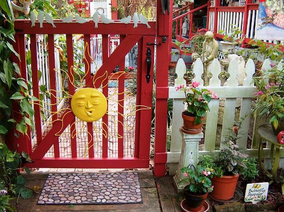 The gate at other side of the cottage