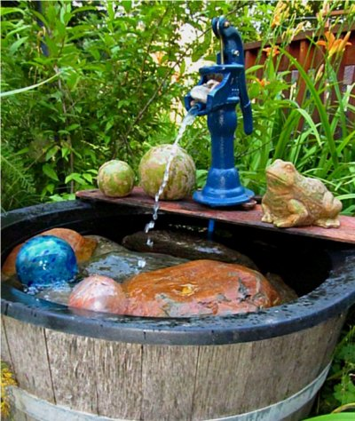 Kirk Willis's blue painted pond pump