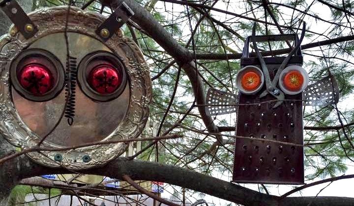 Found Object Owls To Guard Your Garden Flea Market