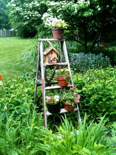 Nikki Byer's sturdy ladder planter