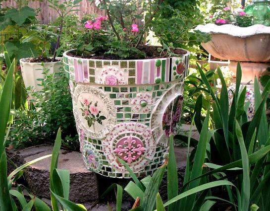 Dishes Garden Art Made