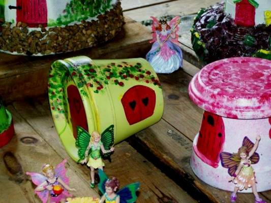 Fairies love flower pot houses