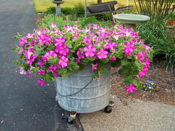 Arlene Brenneman's flower basket 'holder!'