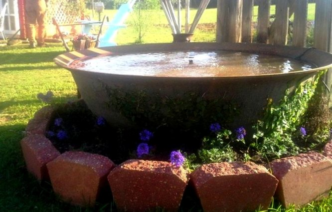 Billie Hayman's kettle fountain