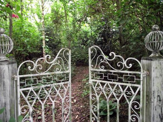 Through the vintage metal garden gate Flea Market Gardening