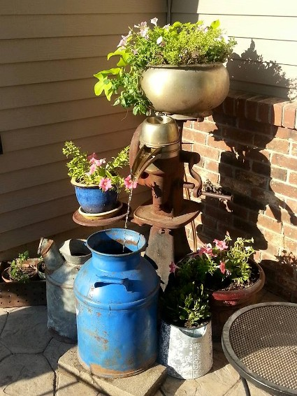 Matt S Cool Cream Separator Fountain Flea Market Gardening