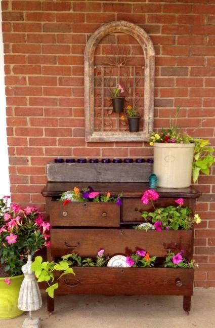 Michelle Fairchild's dresser on her porch