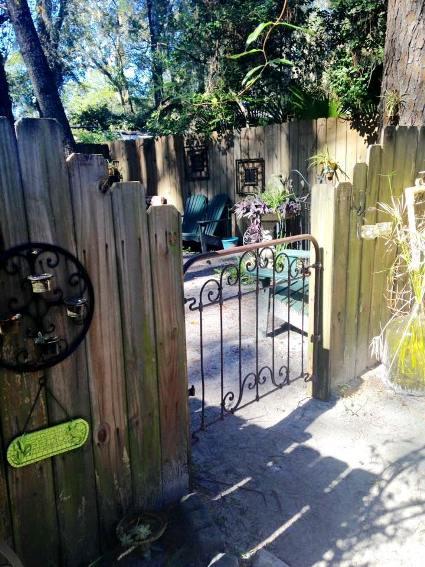 Through The Vintage Metal Garden Gate Flea Market