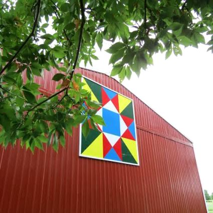 Barn quilt on Diana Daily's barn, photo by Jeanie Merritt