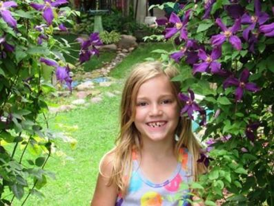 My garden helper.......my granddaughter Hannah