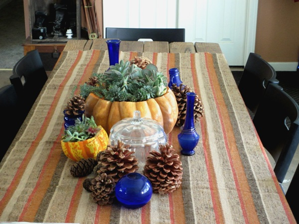 My living centerpiece in a pumpkin!