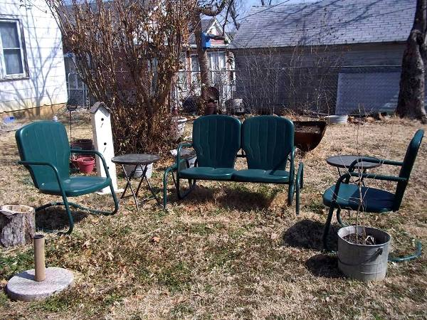 Barbara Casteel's chairs wait until summer without damage
