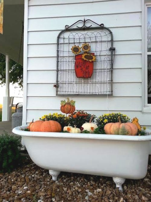 Tammy Lack's tub planter, dressed for Autumn
