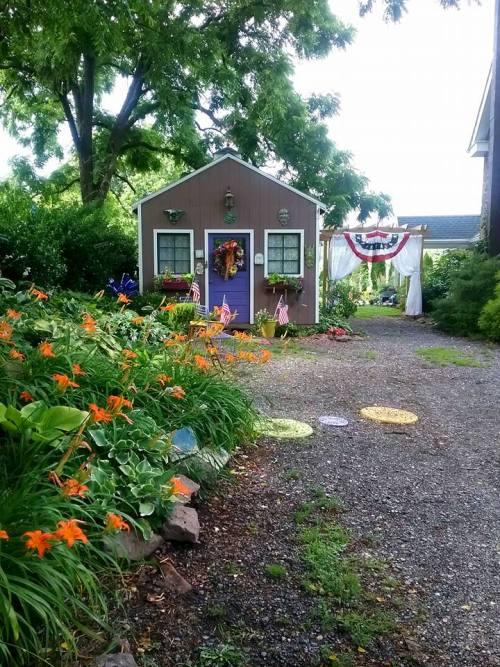 Josephine Alexander's garden shed