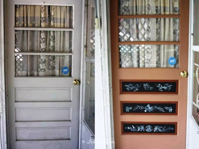 Door, before and after