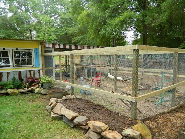 New addition to the chicken run with new bed 4 my daylilies and iris