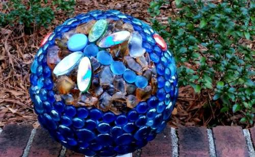 "Charlene Brown ""Here is my finished Fab Feb project dragonfly bowling ball"""