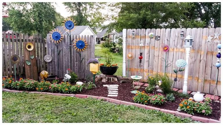 Nancy Carter The perennial bed along back fence