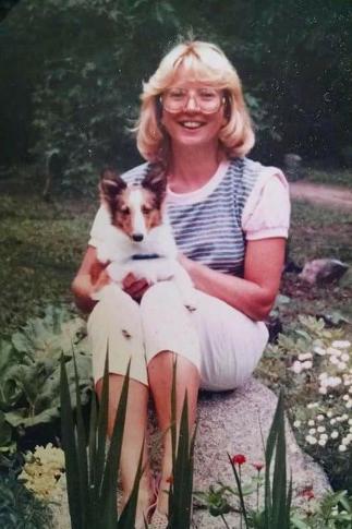Margie Ann in the garden