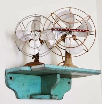 interior design vintage fans