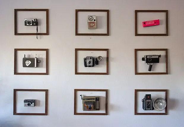 vintage camera in frames