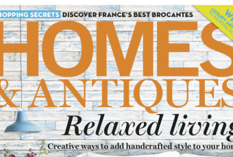 homes and antiques cover