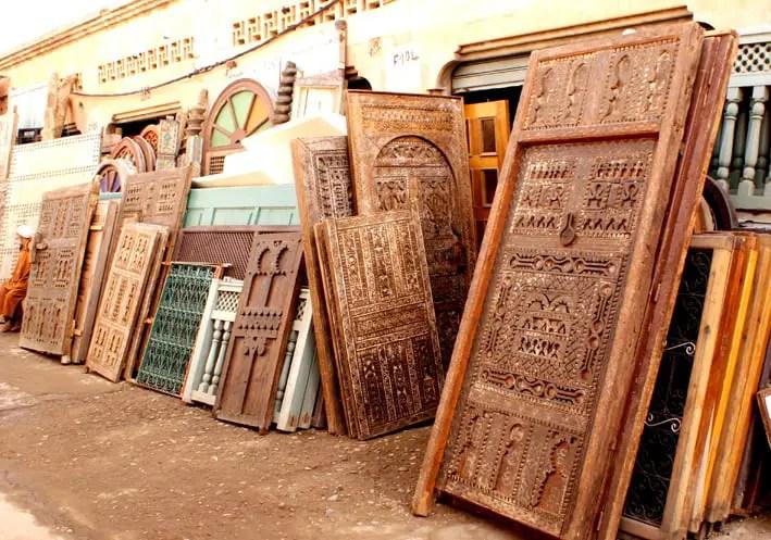 Marrakesh   Bab El Khemis Flea Market Vintage Door By Grant Rawlings