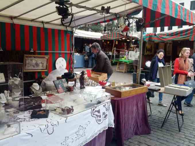 Sablon flea market Brussels