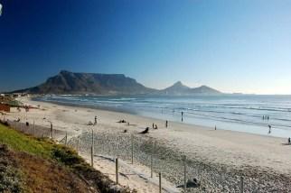 Milnerton beach and Table Mountain