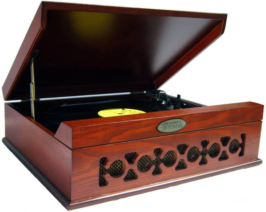 Pyle Home PVNTT6UMR Vintage Style Phonograph