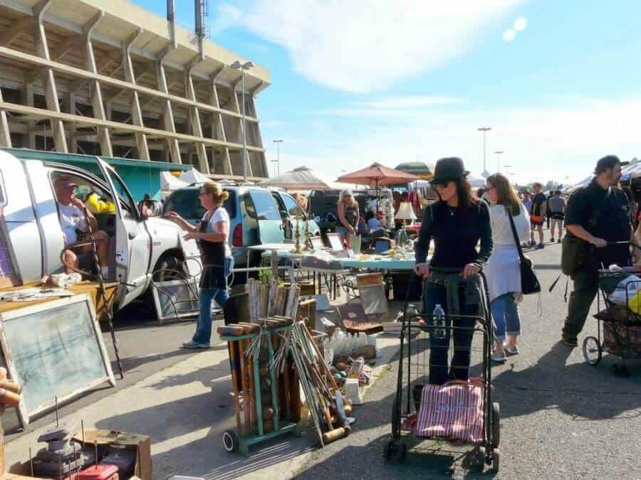 Best flea markets in LA: View of Long Beach Antique Market