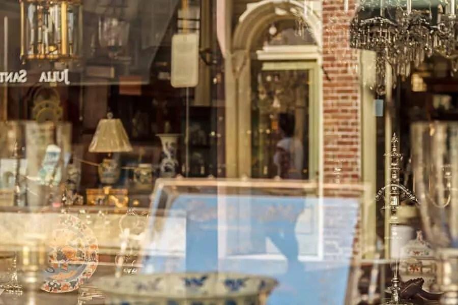 Ken Dodds antique shop reflections Charleston 2
