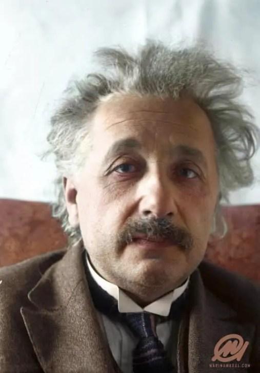 Colorized image: Albert Einstein. © Marina Amaral