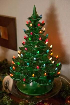 Ceramic Tabletop Xmas Tree