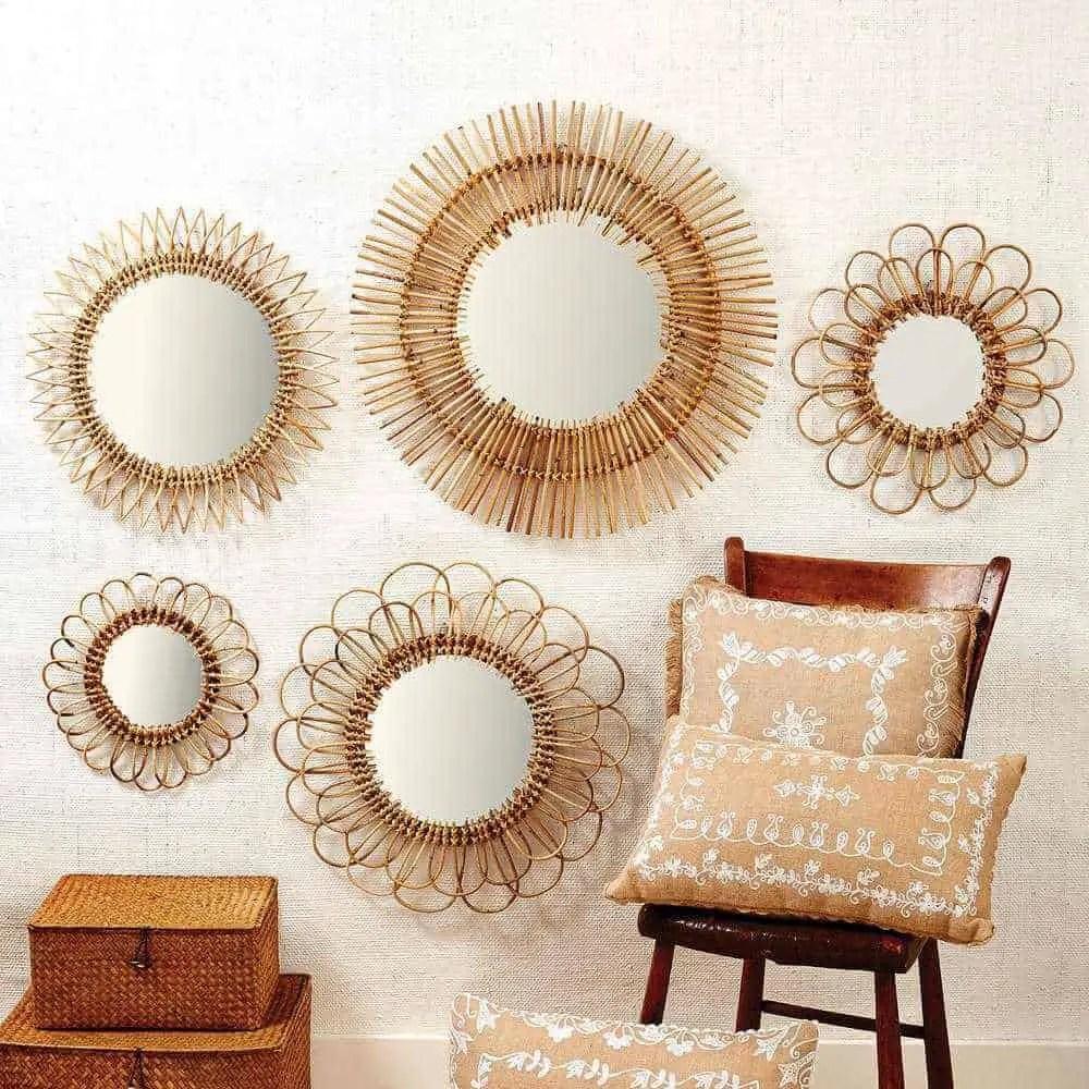 Rattan Wall Mirrors