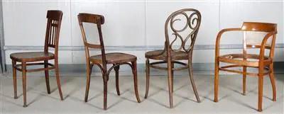 Konvolut von 4 Sessel