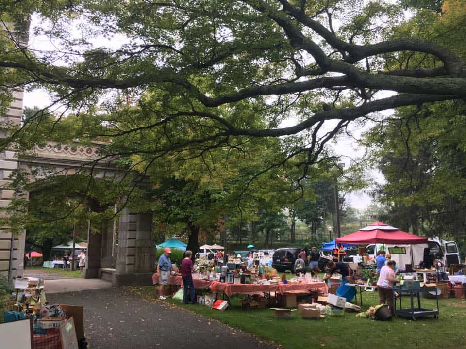 Best Flea Markets in Connecticut: Lockwood Matthews Mansion and Museum Old Fashioned Flea Market©Lockwood Matthews Mansion Facebook