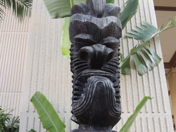 Tiki Statue PD © Tiki Statue adorning a mid century apartment complex in Los Angeles