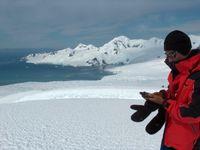Investigador na Antárctida